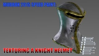 getlinkyoutube.com-Mudbox 2015 Painting a Knight Helmet