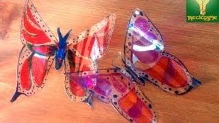 getlinkyoutube.com-Bonitas mariposas pet para decorar ☼