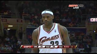 LeBron James Full Highlights 2008.11.05 vs Bulls - 41 Pts, 9 Rebs, 6 Assists