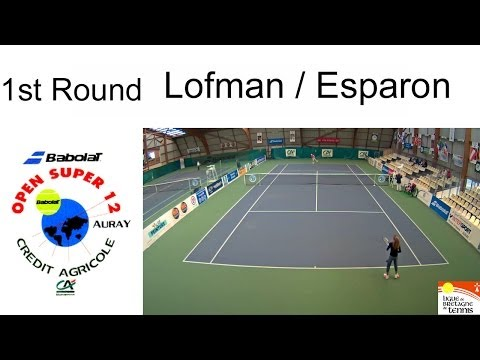 Victory of Lofman (FIN) over Esparon (FRA) - Open Super 12 Auray - 1st Round