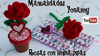 getlinkyoutube.com-ROSAS HECHAS CON LIMPIA PIPAS . PIPE CLEANER ROSES .