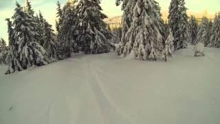 getlinkyoutube.com-Off piste snowboarding in Hafjell Norway 2015