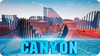 getlinkyoutube.com-Minecraft - Bone Canyon Roller Coaster - Awesome Minecart Map w/ Download