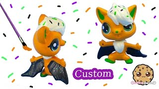 getlinkyoutube.com-DIY Littlest Pet Shop Custom Cupcake Halloween Inspired LPS Bat Painted Craft Toy Cookieswirlc