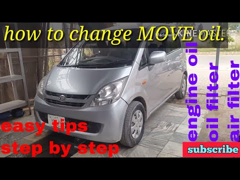 Daihatsu MOVE how to replace fluids and filters step by step