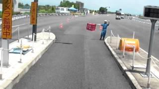 getlinkyoutube.com-トレーラーの車窓 特殊車両 検問 遭遇
