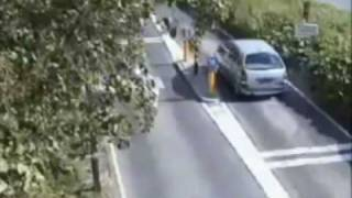 getlinkyoutube.com-When cars and bollards collide: Drivers get owned