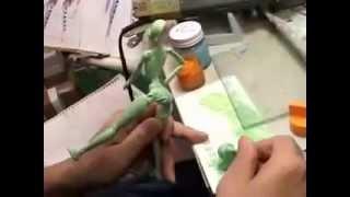смотреть онлайн детальное изготовление ПВХ куклы сделать аниме куклу