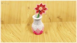 getlinkyoutube.com-3d origami - Vase Flowers