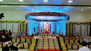 getlinkyoutube.com-Wedding stage Decoration in Trivandrum |  Kerala Weddings | Trivandrum Club | by Happy Weddings
