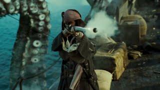 getlinkyoutube.com-Pirates Des Caraibes 2 - Pearl VS Kraken (Scène Culte)