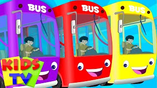 getlinkyoutube.com-The Wheels On The Bus | English Nursery Rhymes For Kids | Children's Songs From Kids TV