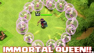 getlinkyoutube.com-Clash Of Clans - IMMORTAL QUEEN TROLL (UNSTOPPABLE HERO ATTACK!!)