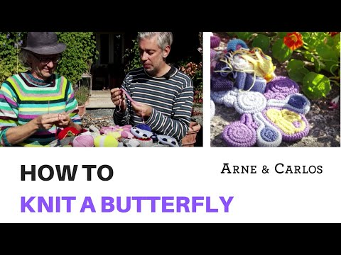 How to knit a beautiful butterfly using our garter stitch technique - by ARNE & CARLOS