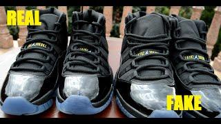 getlinkyoutube.com-SIDE BY SIDE Air Jordan 11 XI Retro GAMMA BLUE REAL VS FAKE COMPARISON RECENT!!!