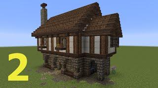 getlinkyoutube.com-Minecraft Tutorial - Kleines Haus #2 (mittelalterlich)