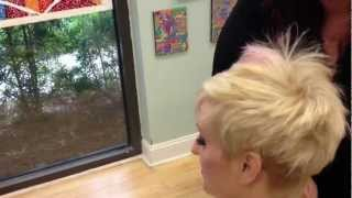 getlinkyoutube.com-Blonde asymetric short haircut