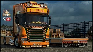 getlinkyoutube.com-[ETS2 v1.23] Scania Lupal + 3 Trailer + V8 Sound