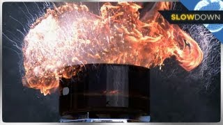 Insane Grease Fire Blows Up in Slow Motion