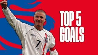 David-Beckhams-best-England-goals-Top-Five width=