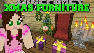 getlinkyoutube.com-Minecraft: CHRISTMAS FURNITURE (GRAND CHAIR, WREATH, LIGHTS, TREE, & GIFTS) Mod Showcase