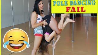 POLE DANCING FAIL   Olga Kay with Sienna Spalding