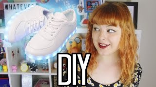 getlinkyoutube.com-DIY LIGHT UP SHOES | Make Thrift Buy #25