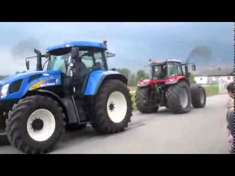 New Holland vs Massey Ferguson. Pacaliti cu tractoare & Accidente cu tractoare