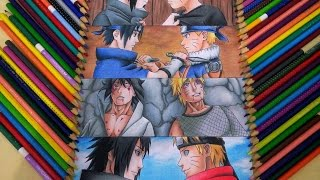 getlinkyoutube.com-Speed Drawing Sasuke and Naruto (Rivalidade e amizade)