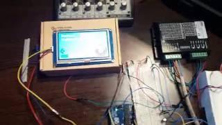 getlinkyoutube.com-Arduino Uno + Nextion + stepper = cutting machine :)