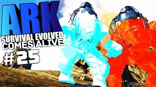 getlinkyoutube.com-ARK Survival Evolved - FIRE & ICE BIONIC GOLEMS, ACA FUNNY MOMENTS Modded #25 - ARK Mods Gameplay