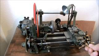 getlinkyoutube.com-CLOCKMAKERS & WATCHMAKERS LATHE WITH WHEEL & PINION CUTTING ATTCHMENTS