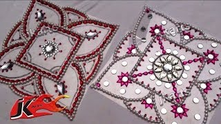 getlinkyoutube.com-DIY Kundan Rangoli Design on OHP Sheet | How to make | JK Arts 078
