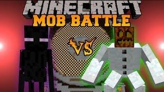 getlinkyoutube.com-Mutant Snow Golem Vs. Enderman - Minecraft Mob Battles - Mutant Creatures Mod