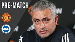 Jose Mourinho Press Conference: Manchester United v Brighton & Hove Albion