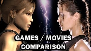 getlinkyoutube.com-Lara Croft Tomb Raider - GAMES / MOVIES COMPARISON