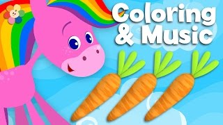 getlinkyoutube.com-Food | Coloring and Music | Rainbow Horse | BabyFirst TV