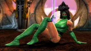 getlinkyoutube.com-Mortal Kombat - Jade Pole Dancing (IN ALL COSTUMES)