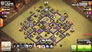 getlinkyoutube.com-cara attack war th 8 vs th 8