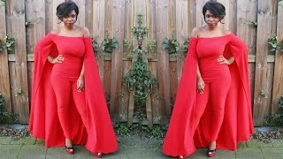 DIY| How To Make a Cape Jumpsuit