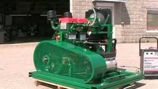 getlinkyoutube.com-Lister Two Cylinder Electric Start Diesel Generator