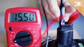 getlinkyoutube.com-Power Tool! Use a Digital Multimeter To Find Voltage, Resistance, & Amperage!