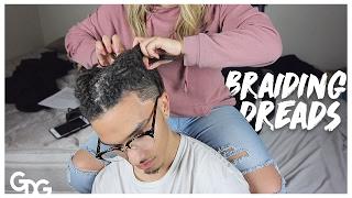getlinkyoutube.com-Braiding Dreadlocks