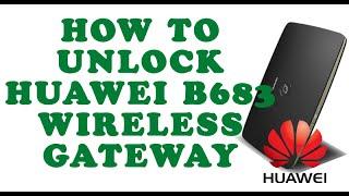 getlinkyoutube.com-How To Unlock Huawei Wireless Gateway -B683