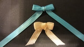 getlinkyoutube.com-How to make a Bow with Ribbon and a Fork- Quick and Easy