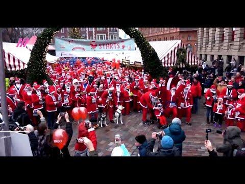 Флешмоб Санта-Клаусов, Рождество, Рига / Rīga / Riga, Santa Claus Flashmob, Christmas