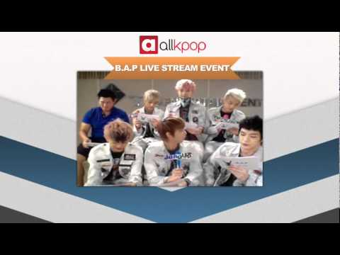 RELIVE IT: Exclusive B.A.P Live Stream on allkpop! [Part 2/5]