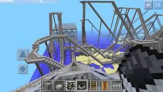 getlinkyoutube.com-[Minecraft PE] 暇な時間を使ってジェットコースターを作ってみた。
