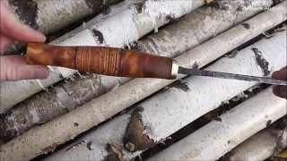 getlinkyoutube.com-Нож из напильника 2.0. Рукоять