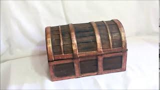 getlinkyoutube.com-Cofre del tesoro hecho con carton - Treasure chest made of cardboard